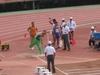 国立霞ヶ丘競技場で行われたフィールド競技(砲丸投)の様子