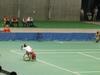 東京体育館では、車いすテニスが行われていました